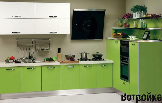 кухни зеленого цвета фото