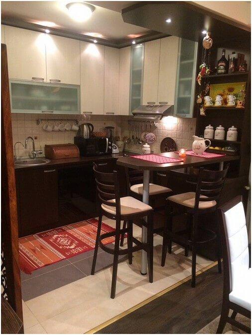 кухня студия в хрущевке дизайн