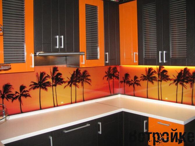 Дизайн кухни оранжевого цвета