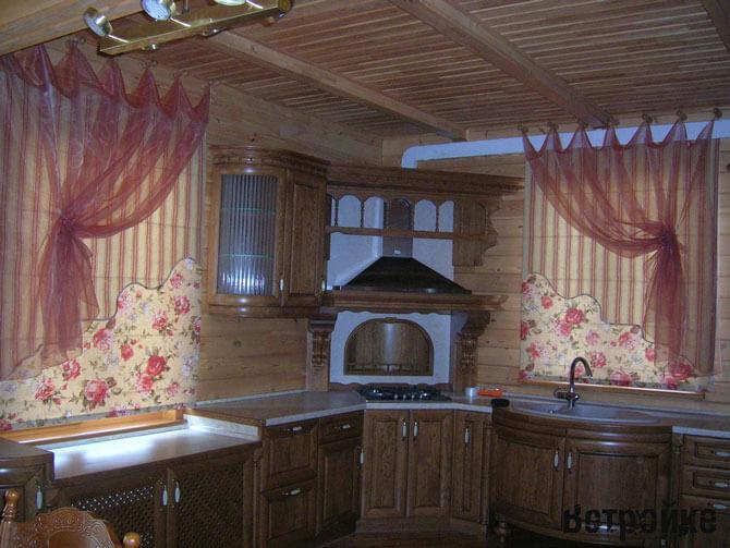 классические шторы тюль для кухни