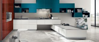 Дизайн цветной кухни фото