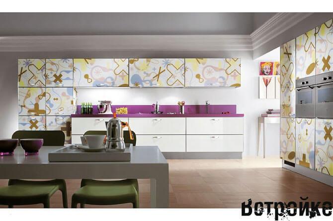 Цветные фасады для кухни
