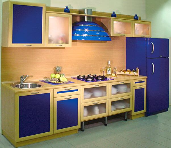 Кухонная мебель в виде профиля