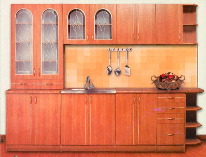 """Кухня """"Марта"""" (ДСП), комплект- 2,6м, вишня"""