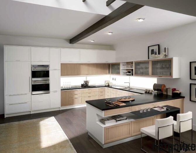 Кухня гостинная фото