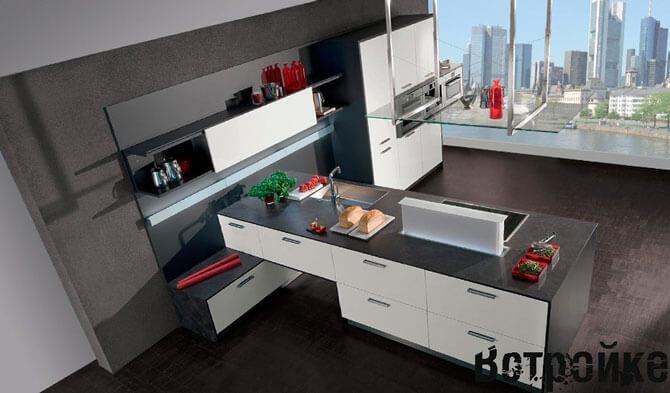 дизайн кухни в стиле модерн