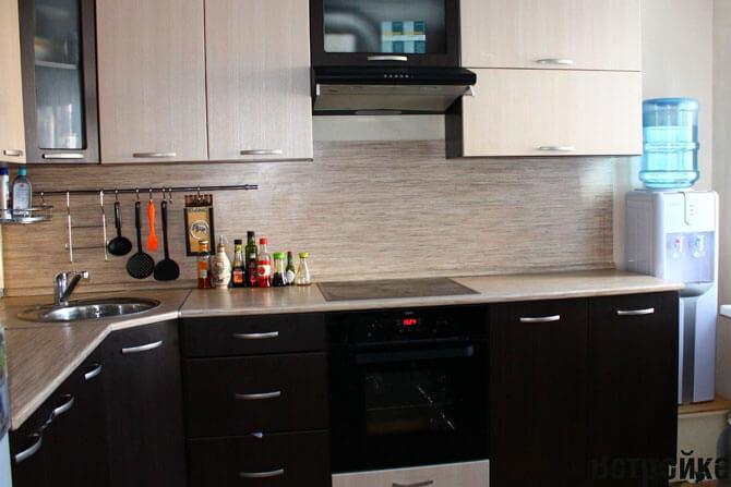 Плитка под кирпич фартук для кухни