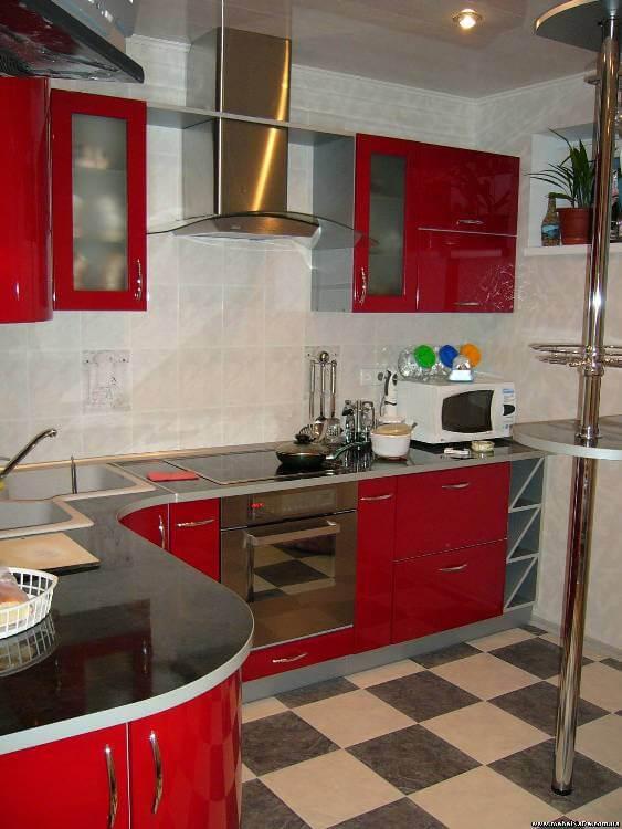 Кухня МДФ глянец