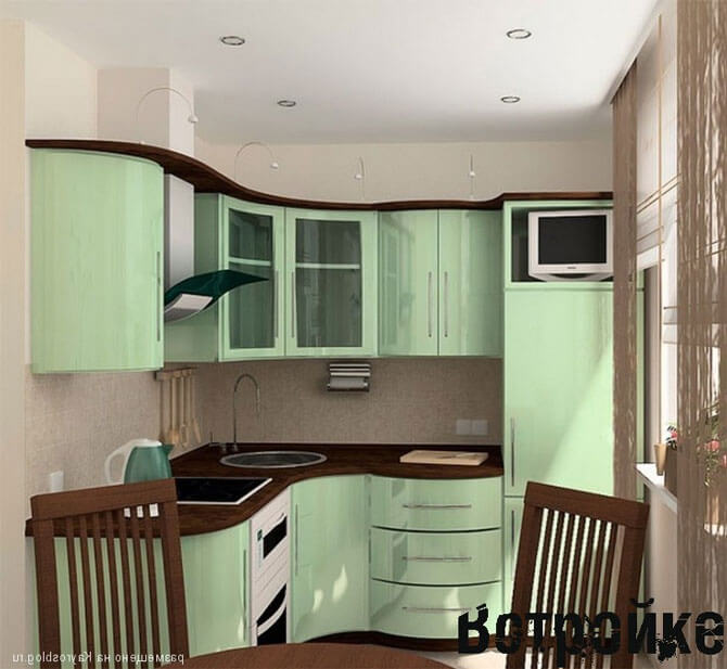 проекты мебели для маленькой кухни