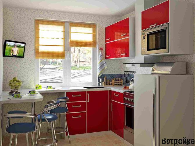 маленькая кухня идеи размещения мебели