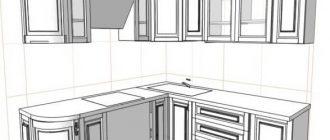 Чертежи кухонной мебели