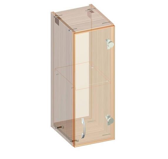 Навесной кухонный шкаф 260 х 320 х 720 - эскиз
