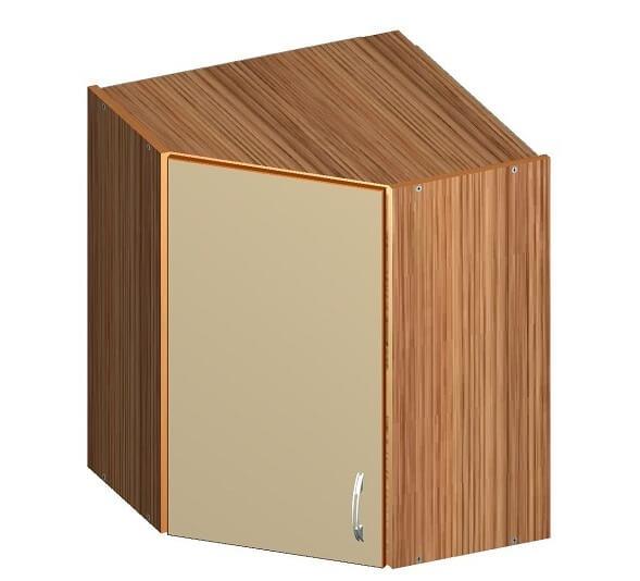 Угловой кухонный верхний шкафчик 600 х 600 х 720
