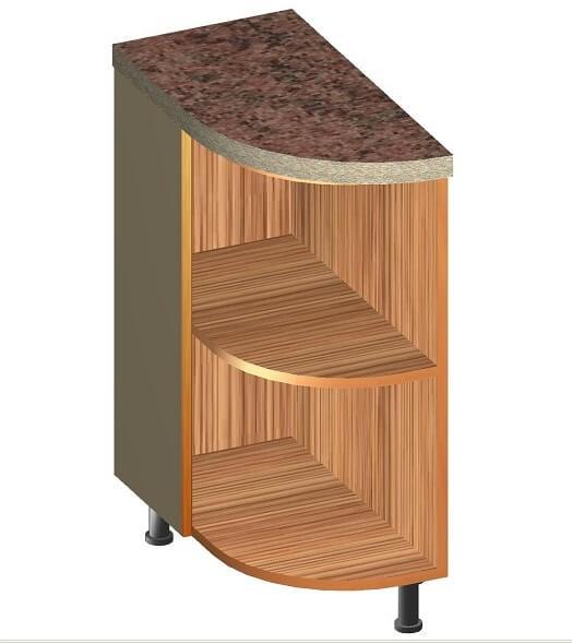 Кухонный нижний радиусный модуль 320 х 600 х 860