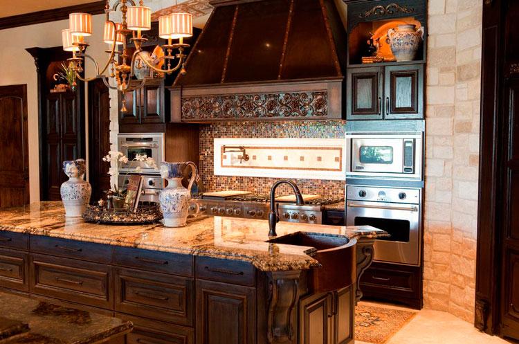 Красивые фартуки для кухни фото 4