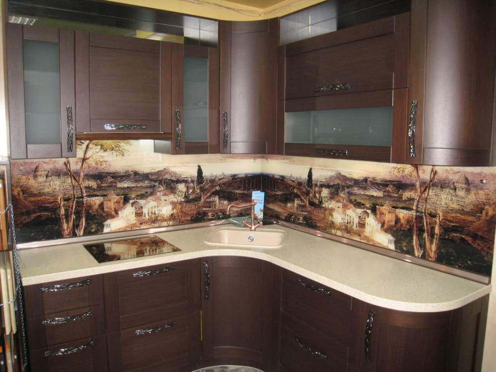 Красивые фартуки для кухни фото 3