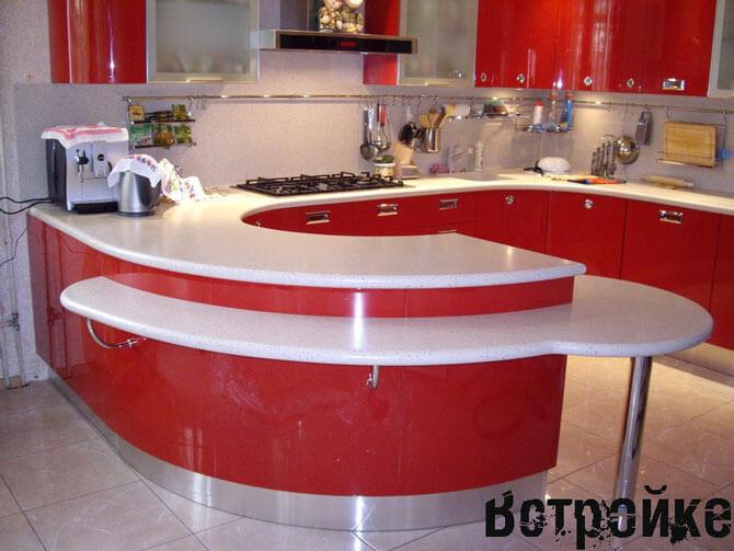 Акриловые столешницы для кухни