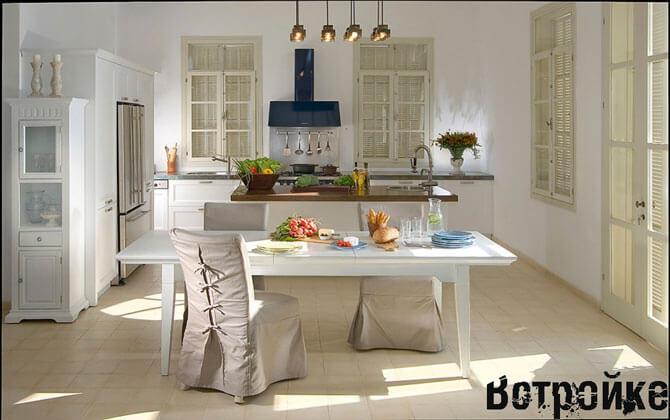 белые обеденные столы для кухни