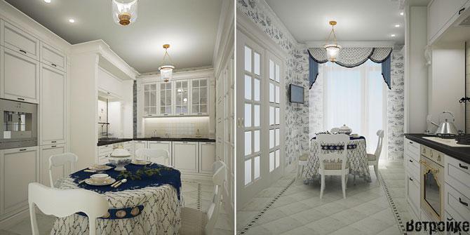 стол на кухню белый