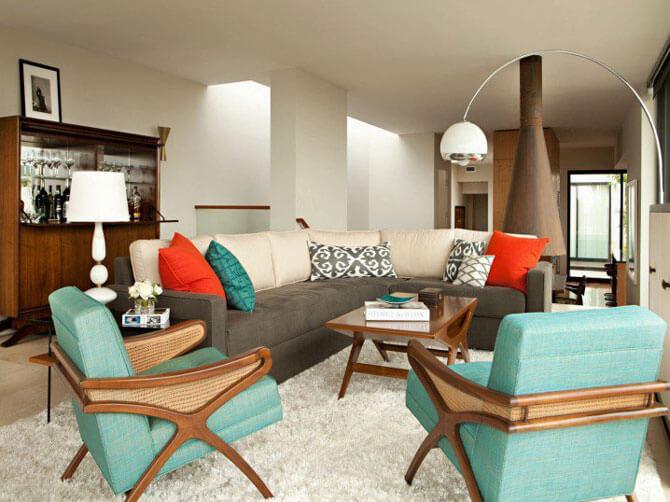Дизайн дивана для гостиной