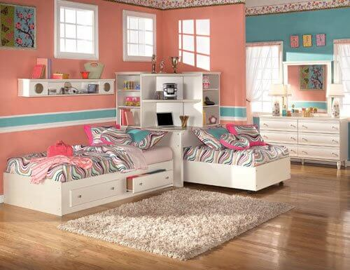 Дизайн детской комнаты для девочек близняшек