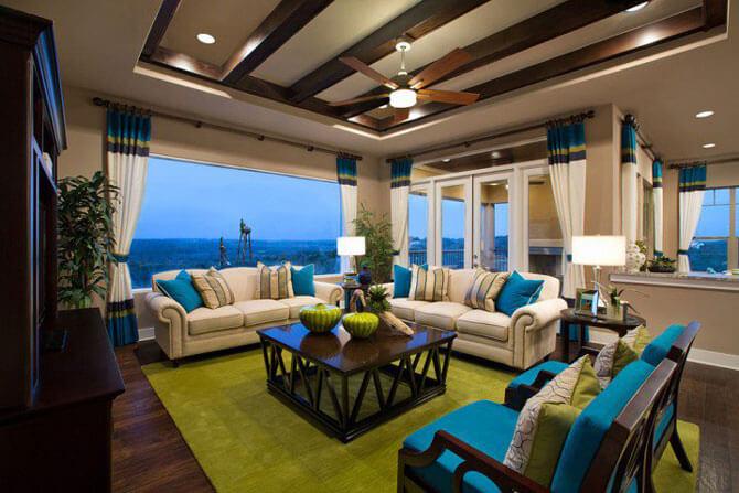 зеленая гостиная фото
