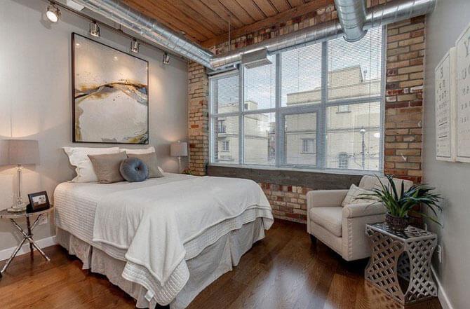 Индастриал стиль в спальне