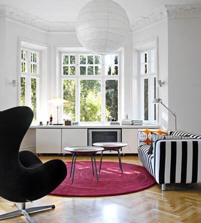 дизайн черно белой гостиной