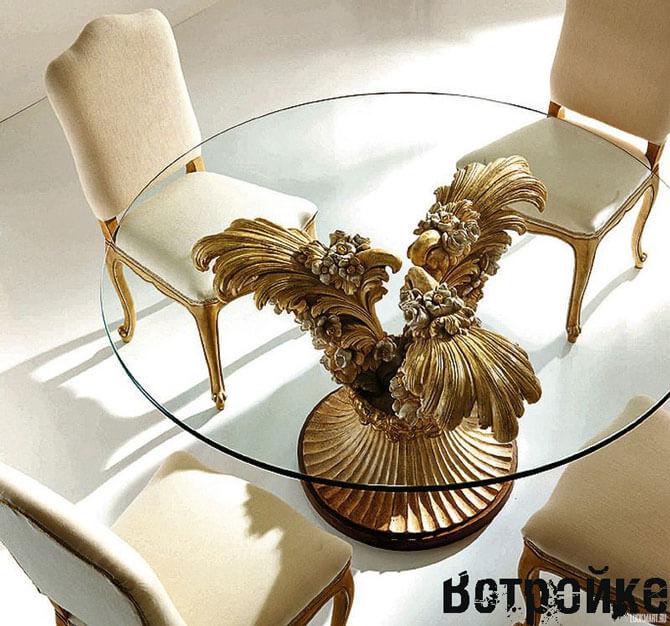 Круглый стеклянный стол для кухни: выбираем стол из стекла: http://www.vstroyke.com/kruglyj-steklyannyj-stol-dlya-kuxni/