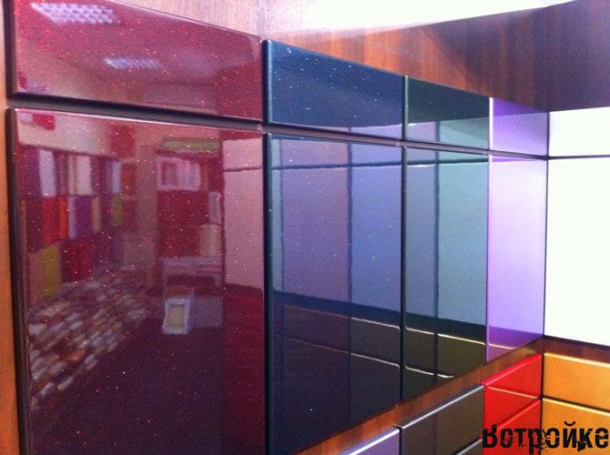 Крашенные фасады МДФ металлик