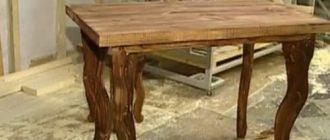 Обеденный стол для кухни из массива дерева