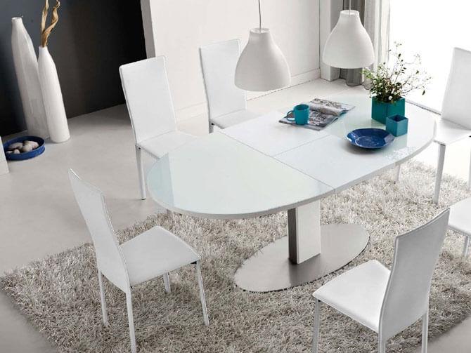 Стеклянный прямоугольный стол трансформер