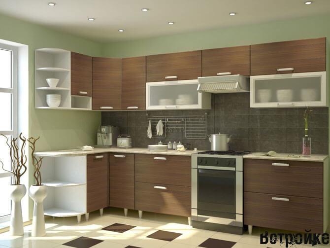 Встраиваемая мебель для маленькой кухни