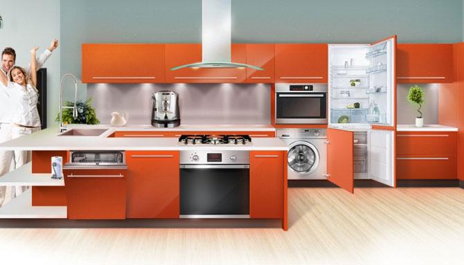Кухня со встраиваемой техникой Bosch