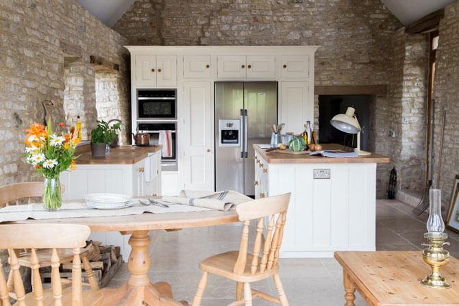 Встроенная мебель для кухни в стиле кантри