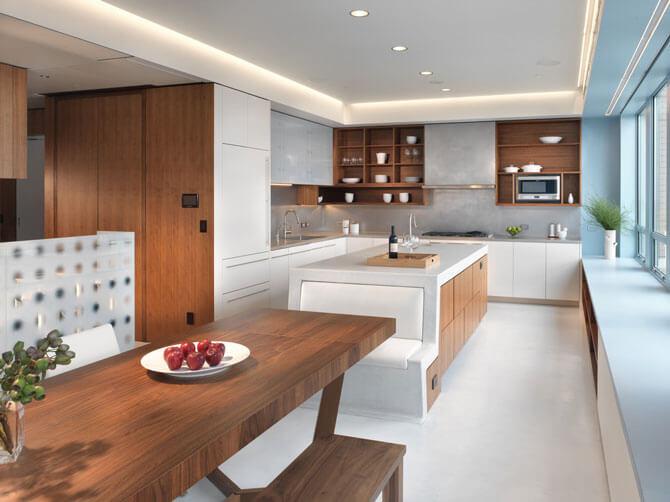 Встроенная мебель для кухни в стиле модерн