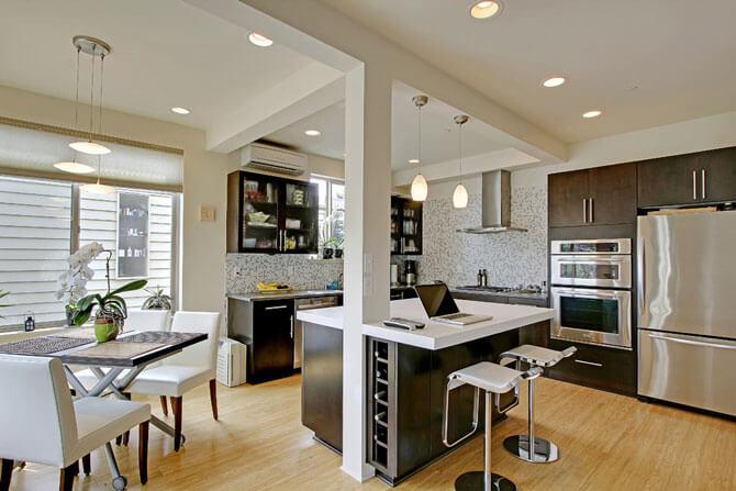 встроенная мебель для кухни фото