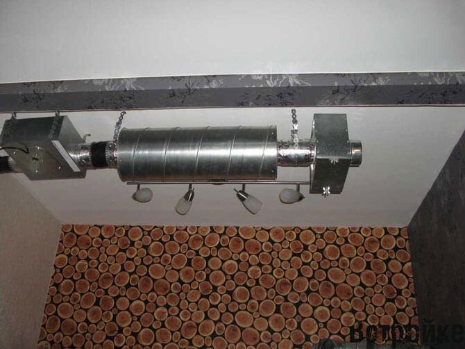 гофрированный воздуховод для втяжки