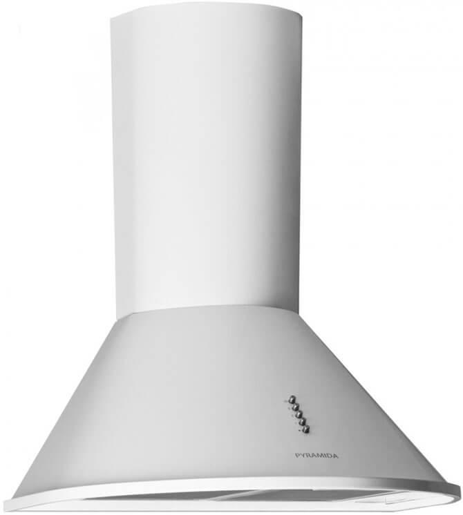 Вытяжка для кухни 60 см Pyramida white