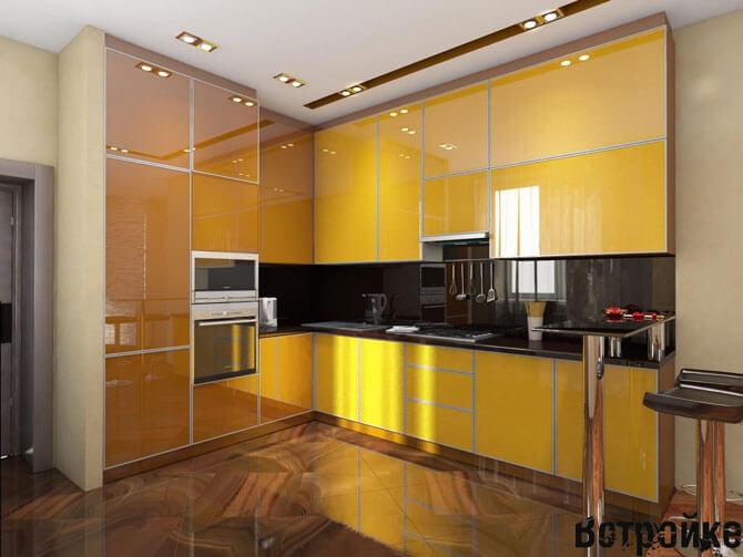Изготовление алюминиевых фасадов для кухни