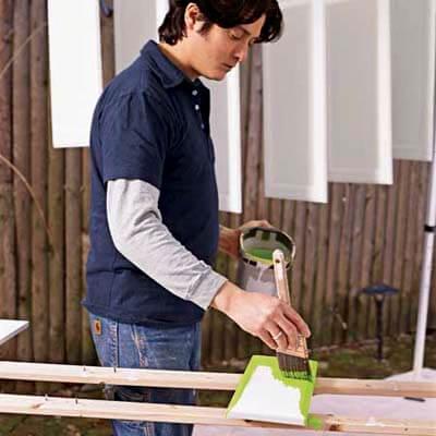 Окрашивание фасадов для кухни своими руками