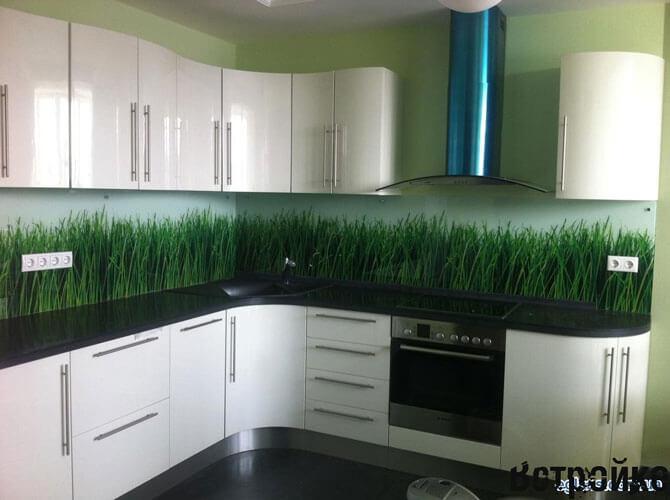 Фото стекляные панели (скинадли) для фартука на кухне