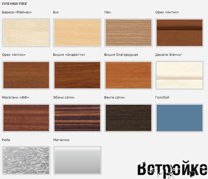 пленка для фасадов кухни цвета