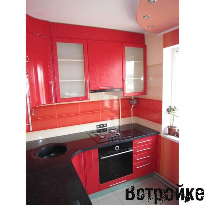 Фото фасадов кухни отделанных пленкой ПВХ
