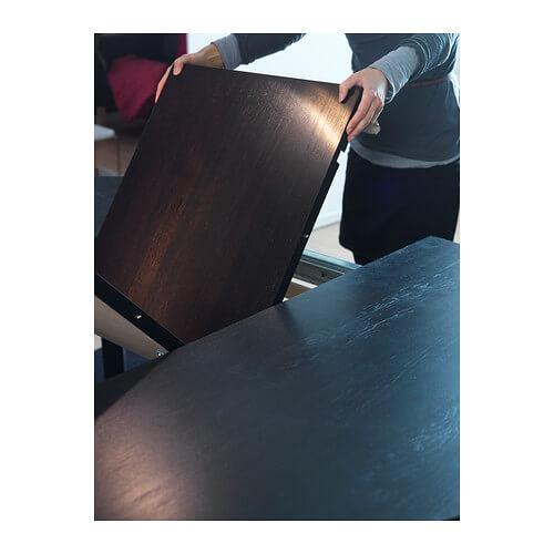 Раздвижной стол, коричневый