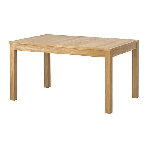 Раздвижной стол, дубовый шпон