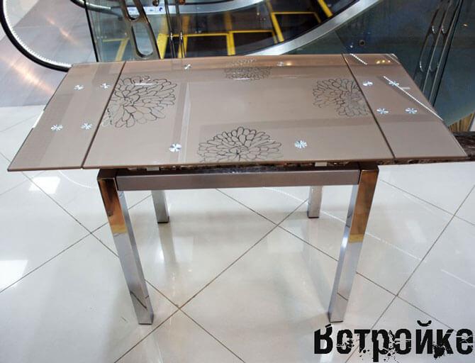 Столы стеклянные раздвижные для кухни
