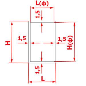 Схема расчета зазоров одиночного фасада