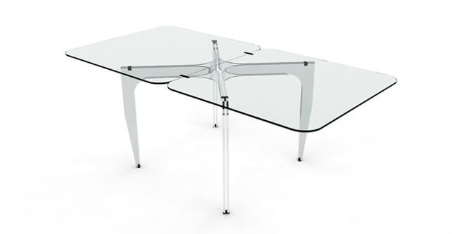 Стеклянные раскладные столы для кухни