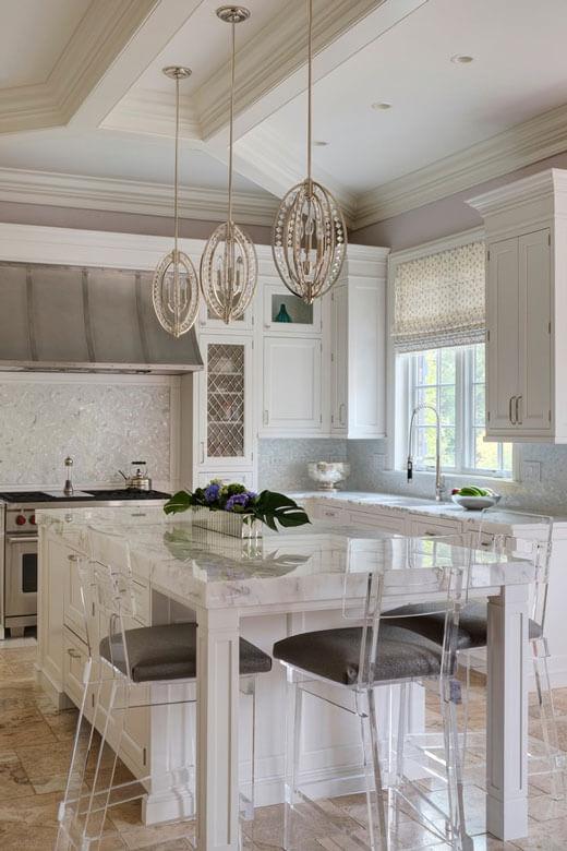 Мягкие стеклянные стулья для кухни